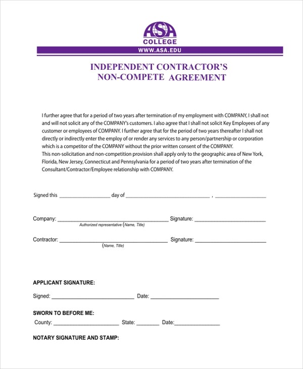 Sample Independent Contractor Agreement form - 11+ Free Documents in - sample independent contractor agreement
