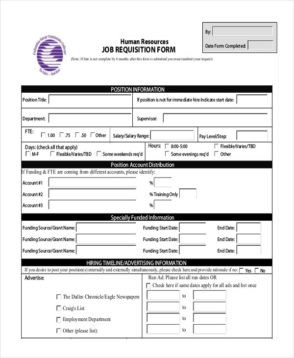 Staff Hiring Request Form