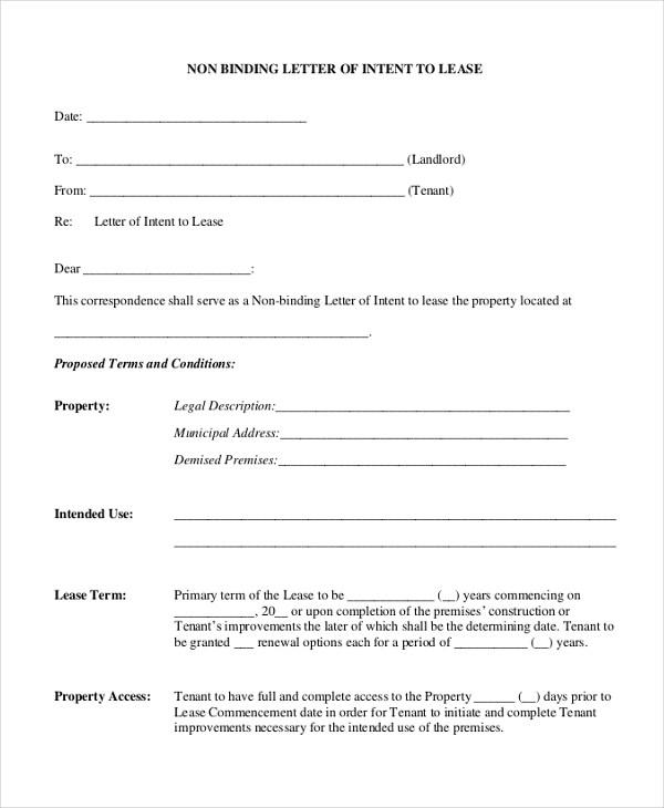 Letter of Intent Sample - 10+ Free Documents in PDF, Doc