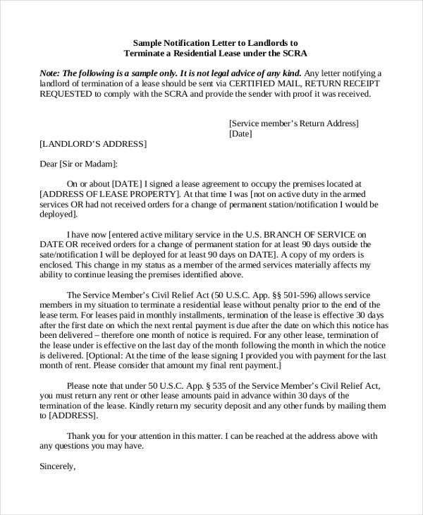 Sample Termination Letter - 8+ Free Documents in PDF, Doc - sample termination letters