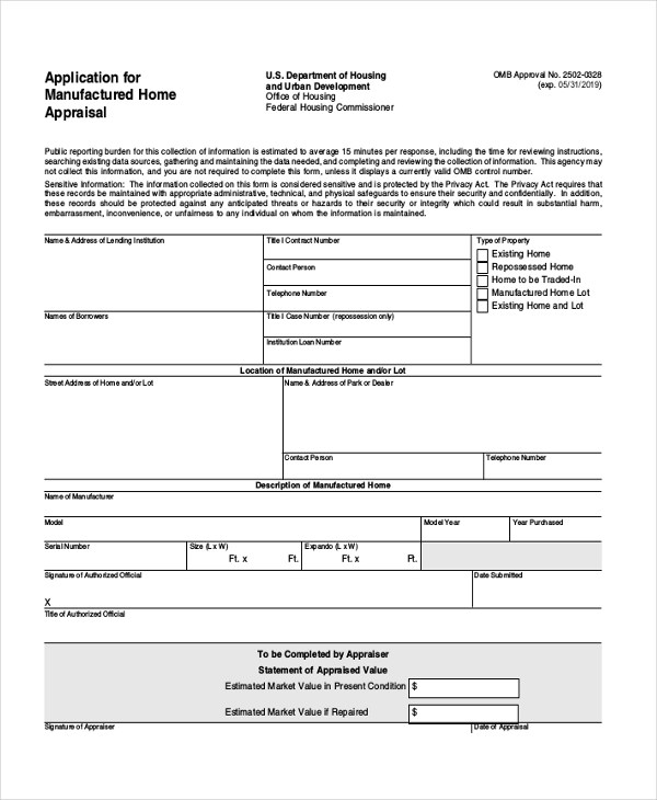 Sample Home Appraisal Form - 7+ Free Documents in PDF