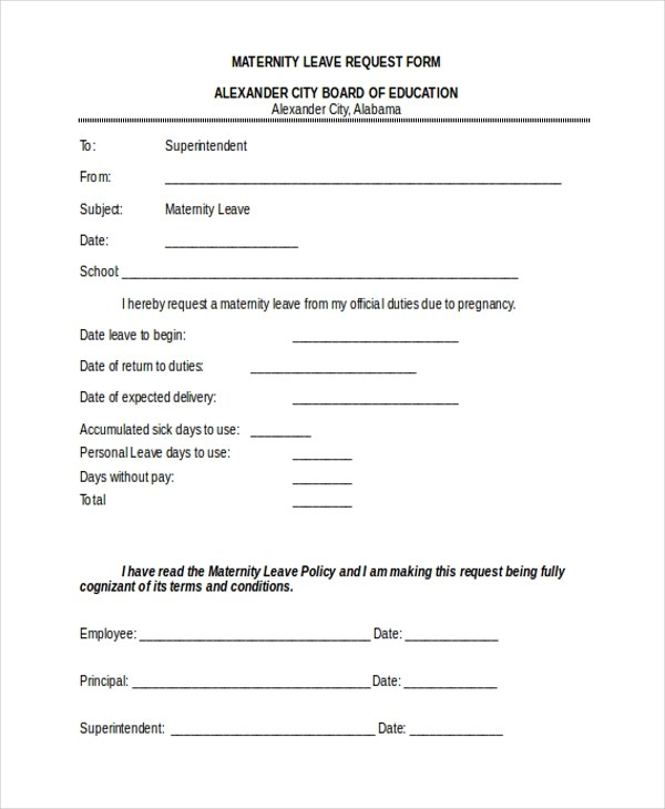 sample leave request forms - Canasbergdorfbib