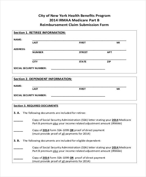 Sample Medicare Form - 9+ Free Documents in PDF