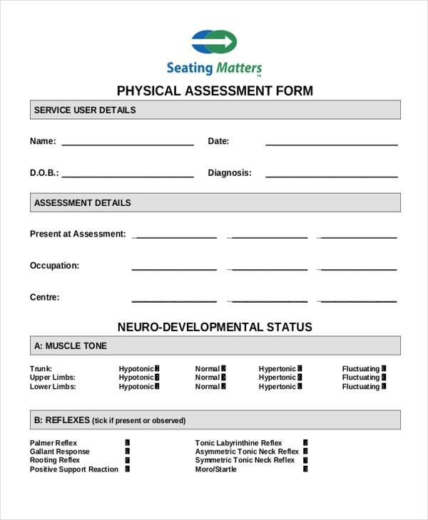 ... Nursing Assessment Form Mood (phq 9) Collection Tool   Fitness Assessment  Form ...