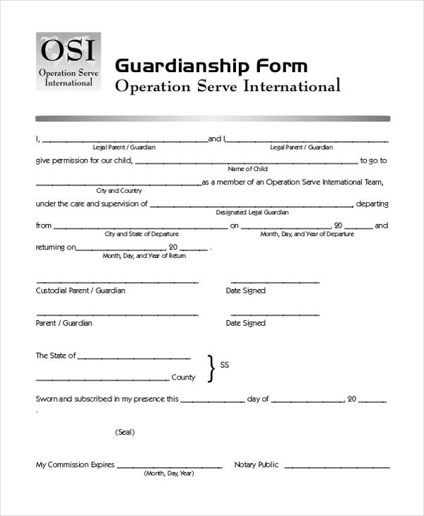 Temporary Guardianship Form Kentucky Sponsor Thank You Letter - temporary guardianship form