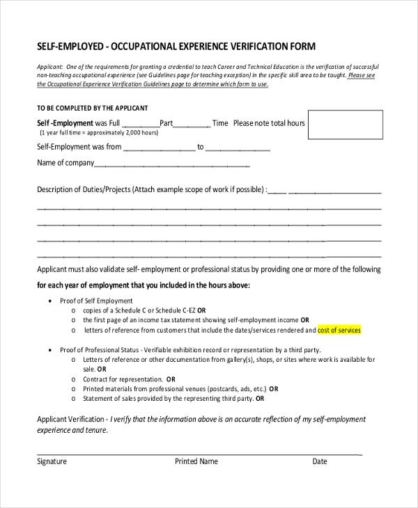sample of employment verification letter
