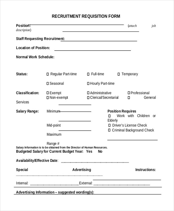 Sample Requisition Form - 11+ Free Documents in Doc, PDF, Excel
