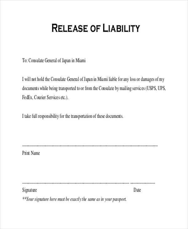 free general release of liability form template - Basilosaur - free general release of liability form template