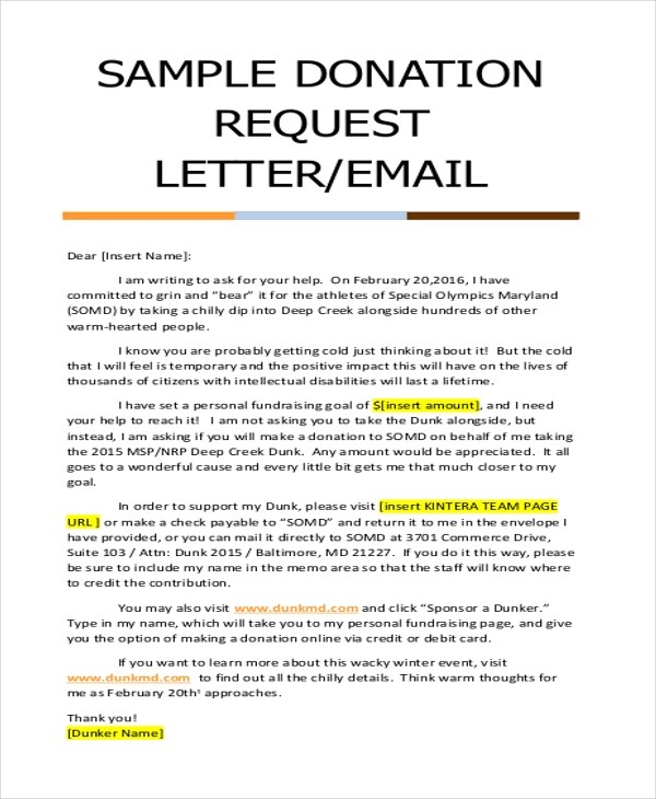 Donation Letter Sample - 9+ Free Documents in Doc, PDF