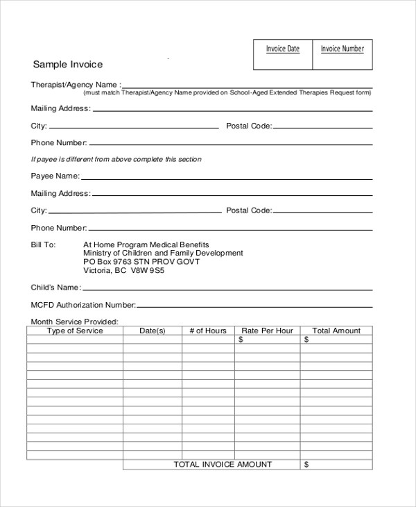 Invoice Form Sample - 10+ Free Documents in Doc, PDF, Excel - samples invoice