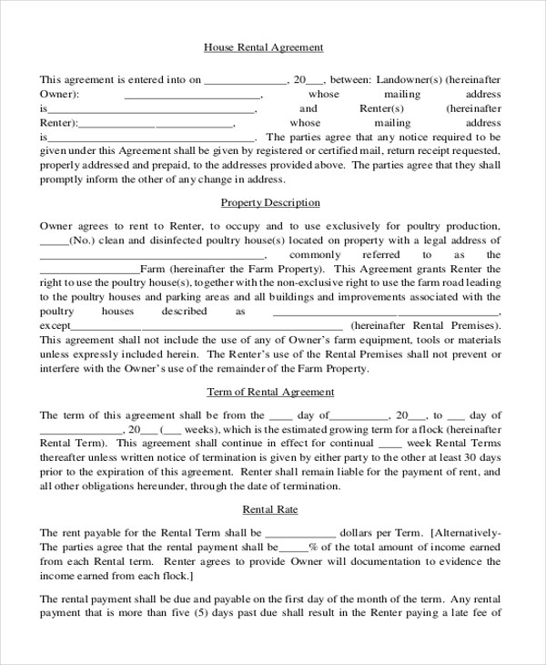 Simple Rental Agreement Form - 12+ Free Documents in PDF - rental agreement