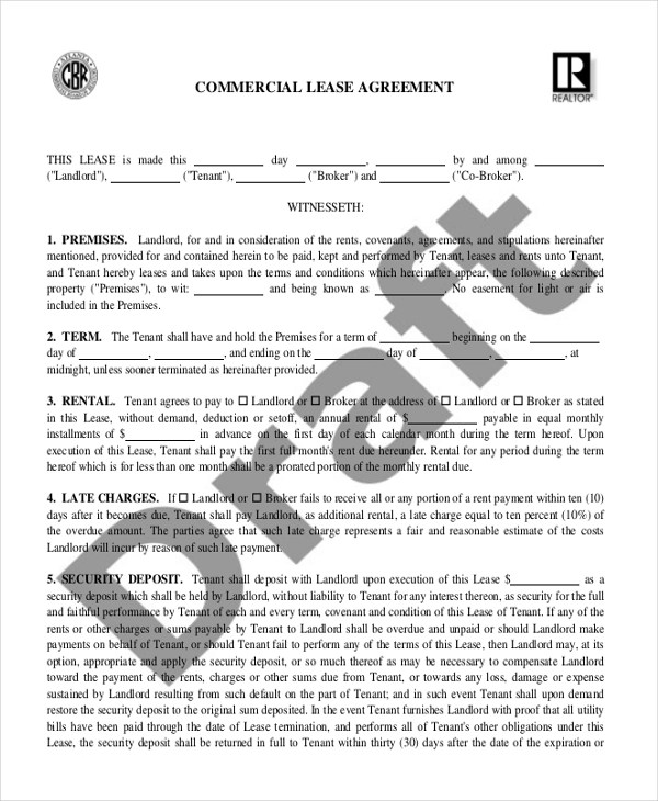 Commercial Property Lease Nsw Law4us Agreement - sample commercial lease agreement template