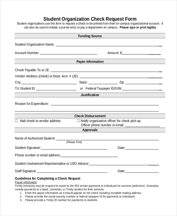 Sample Check Request Form - 10+ Free Documents in Doc, PDF - funding request form