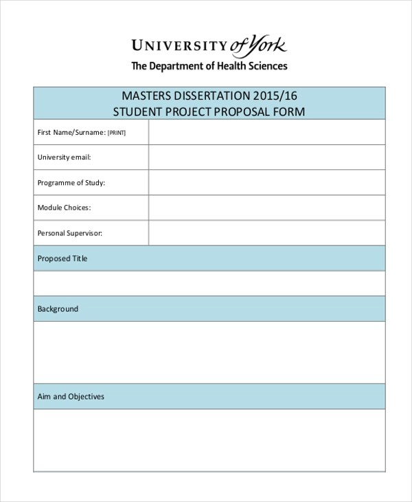 Sample Project Proposal Form - 10+ Free Documents in Doc, PDF - proposal for a project