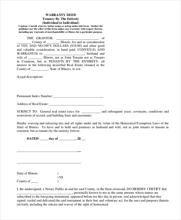 9+ Sample General Warranty Deed Forms Sample Forms