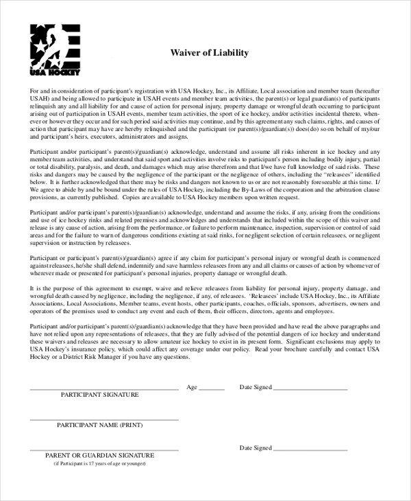 Sample Waiver of Liability Form - 10+ Free Documents in Doc, PDF