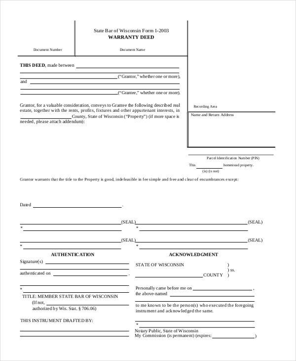 Sample Deed Form - 16+ Free Documents in word, PDF - grant deed form