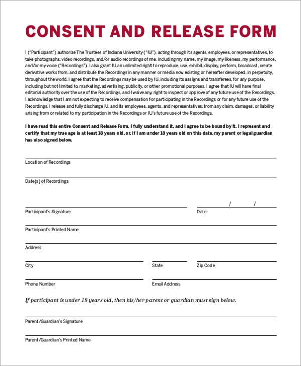 parental release form for children free child medical consent form - model release form in pdf