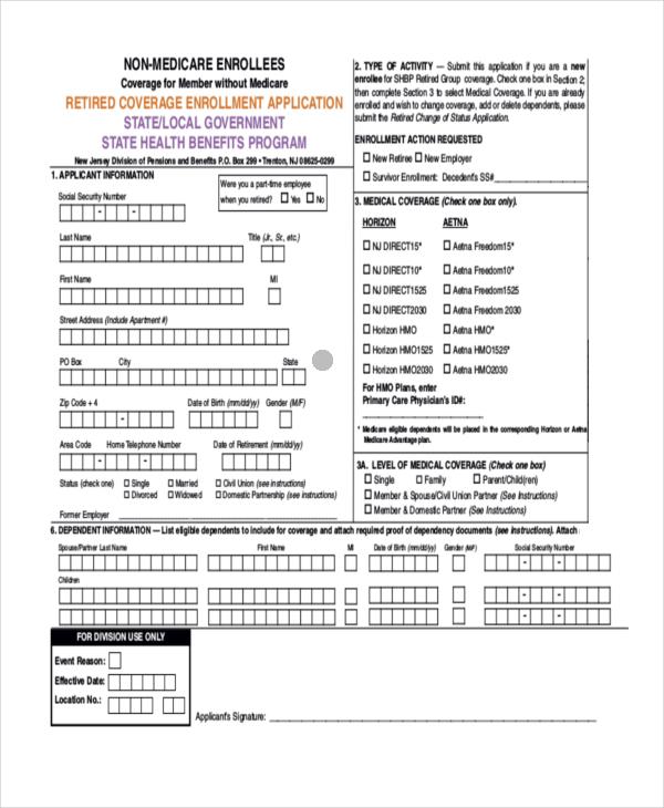 Sample Medicare Application Form - sarahepps -