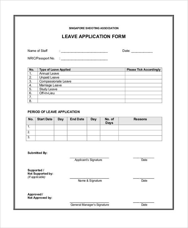 Application Form Example Sample Universal College Application - application form in doc