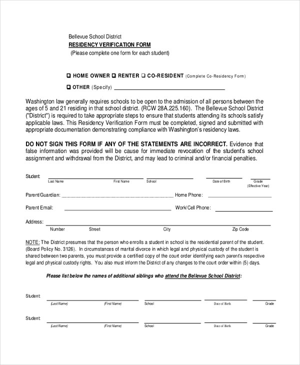 Sample Affidavit of Residency Form - 9+ Sample Documents in PDF, - affidavit form in pdf
