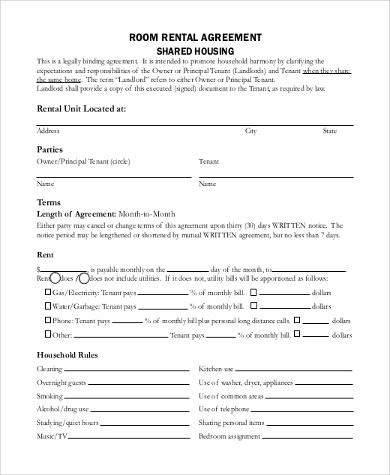 Sample Blank Rental Agreement Form - 8+ Free Documents in Doc, PDF - blank lease form