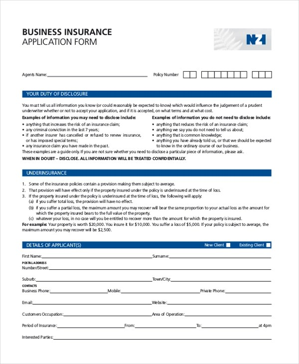 Sample Business Application Form - 9+ Free Documents in PDF - business application form