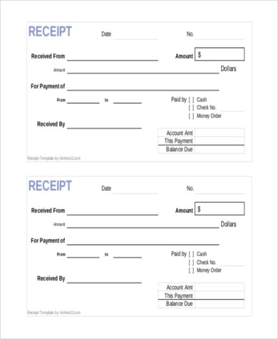 Sample Payment Receipt Form - 8+ Free documents in Doc, PDF - cash payment receipt