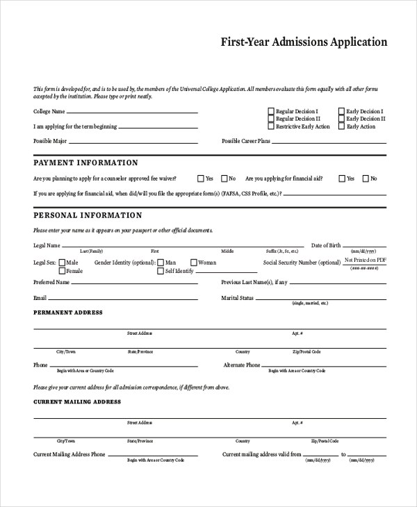 9+ Sample General Application Forms - Sample, Example, Formt - general application form
