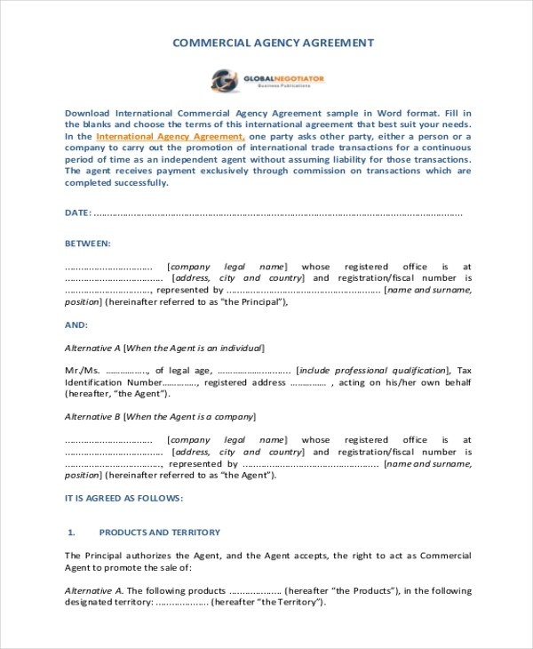 Sales Agency Agreement Template Film Production Sales Agency