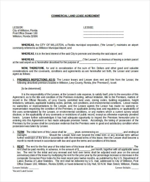 Sample Commercial Lease Agreements Letter Of Intent Form Real - lease agreements sample