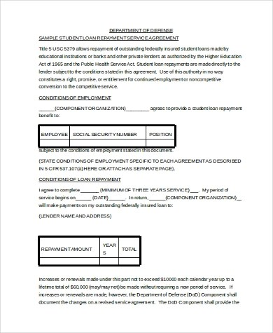 Sample Loan Contract Form - 9+ Free Documents in PDF