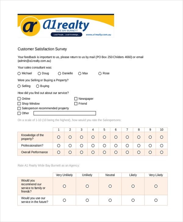 Sample Survey Form Example - 9+ Free Documents in Doc, PDF
