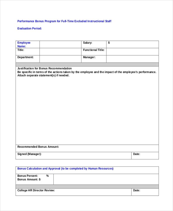 Free Appraisal Forms Examplesbillybullock - sample employee appraisal form