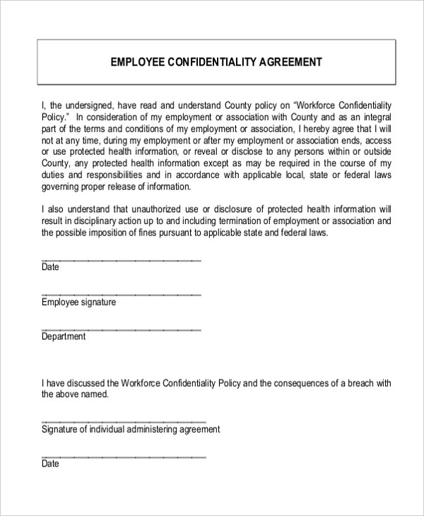 Sample Confidentiality Agreement Form - 9+ Free Documents in Doc, PDF - confidentiality agreement template