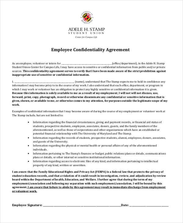 confidentiality agreement sample hitecauto - sample employee confidentiality agreement
