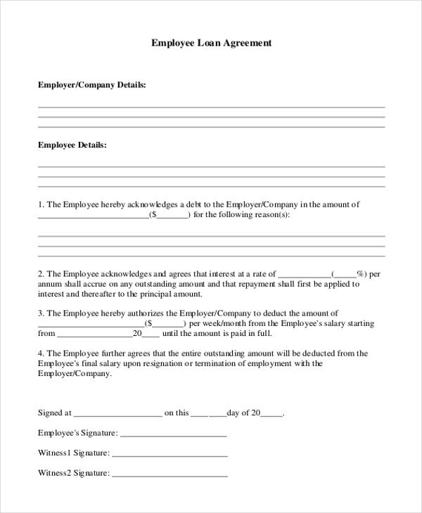 Luxury Employee Advance form 10 Best Of Cash Loan Agreement Cash - loan agreement form sample