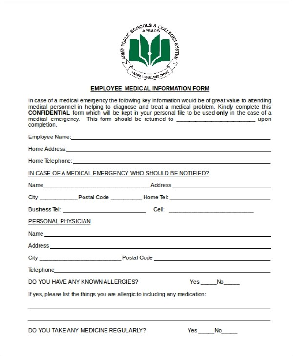 sample employee information form - Akbagreenw
