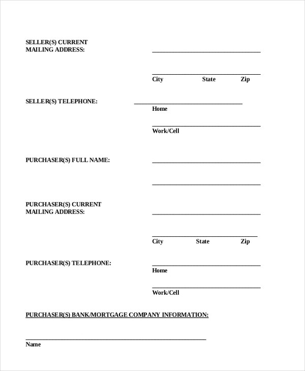 Sample Real Estate Purchase Agreement Form - 6+ Free Documents in - home purchase agreement form free