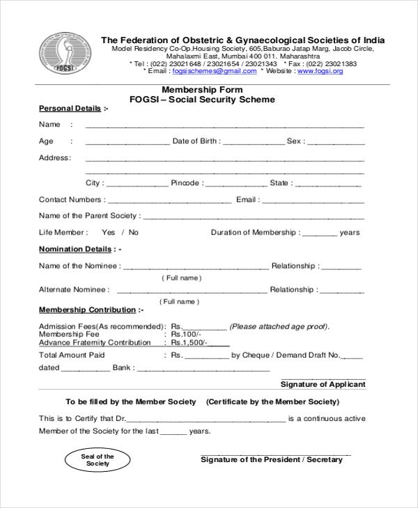 Doc#650346 Social Security Application Form u2013 Social Security - social security form