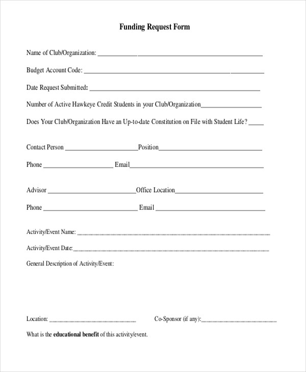 Sample Request Forms - 11+ Free Documents in PDF
