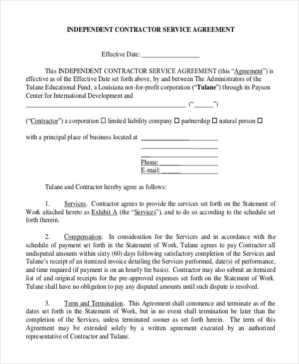 Sample Service Agreement Form - 9+ Free Documents in PDF - business service agreement