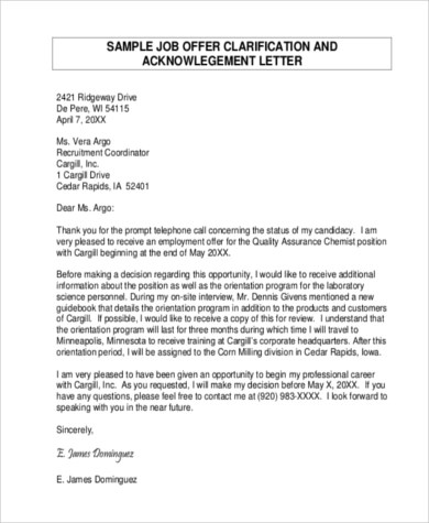job offer acceptance letter reply - Intoanysearch - job offer letter acceptance