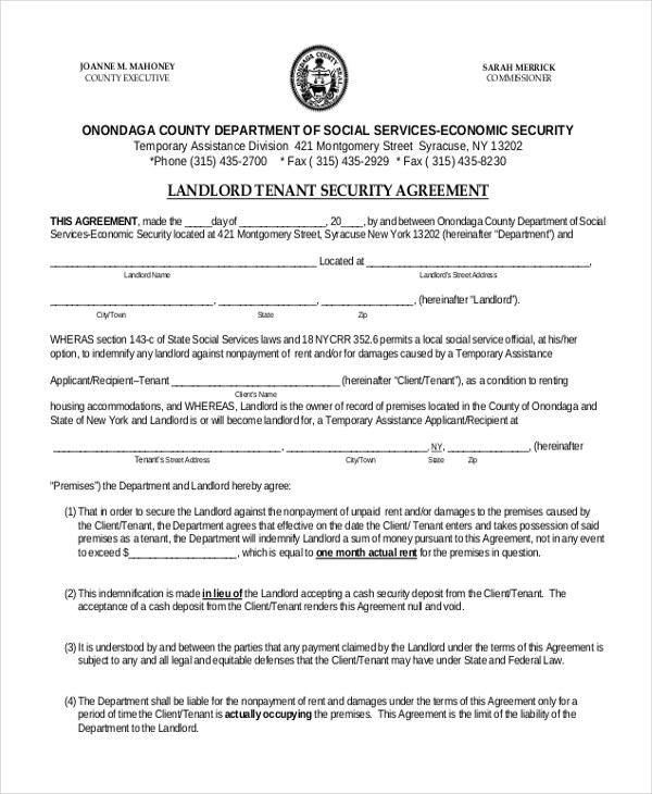 Sample Security Agreement Form - 10+ Free Documents in Doc, PDF - security agreement template
