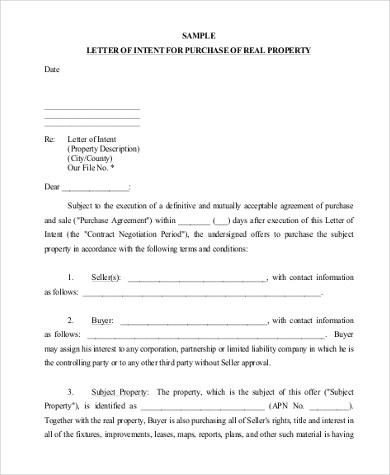 Sample Letter of Intent Format - 9+ Free Documents in PDF, Doc - letter of intent to purchase goods
