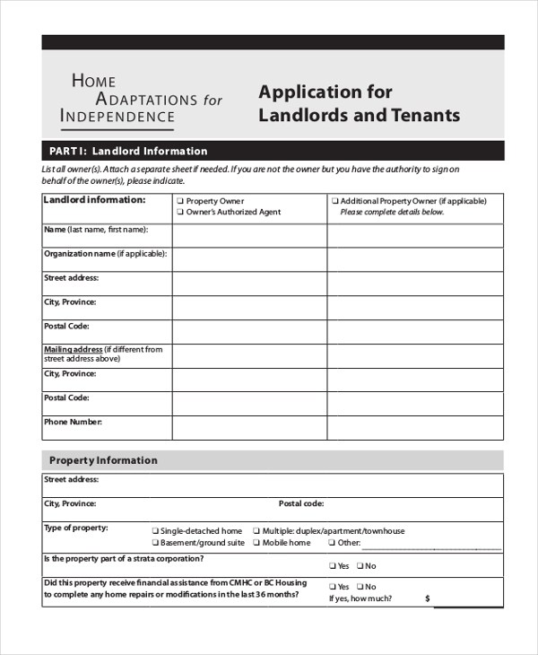 tenant information form - Tenant Information Form