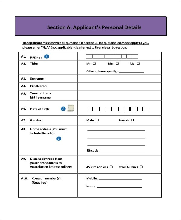 example of an application form - Romeolandinez - application form example