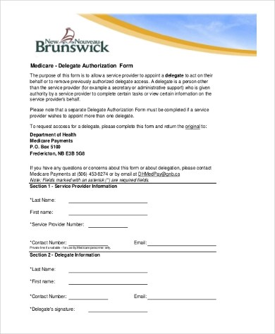 Sample Medicare Authorization Forms - 8+ Free Documents in PDF - sample medicare application form