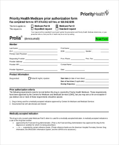 Sample Medicare Authorization Forms - 8+ Free Documents in PDF - Medicare Form