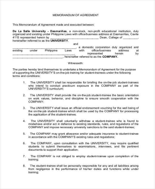 Sample Domestic Partnership Agreement Form  Resume Format For